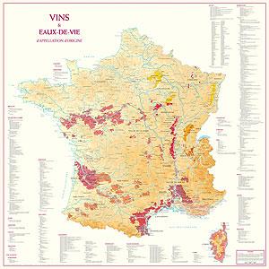 Geografische Wijnkaarten als Poster
