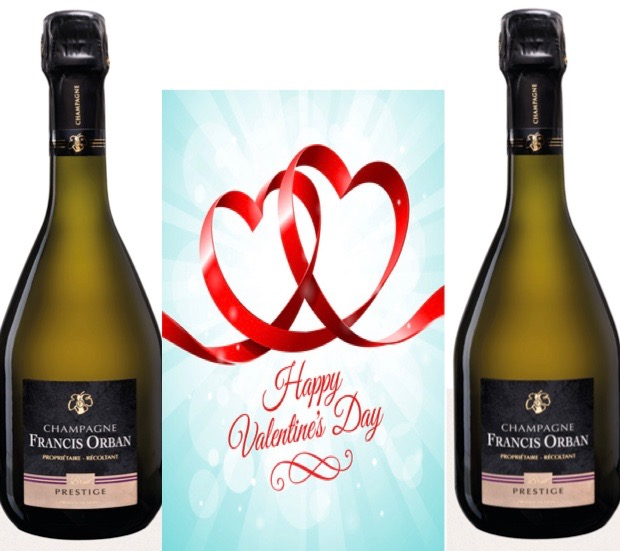 Happy Valentine's Day met Champagne.