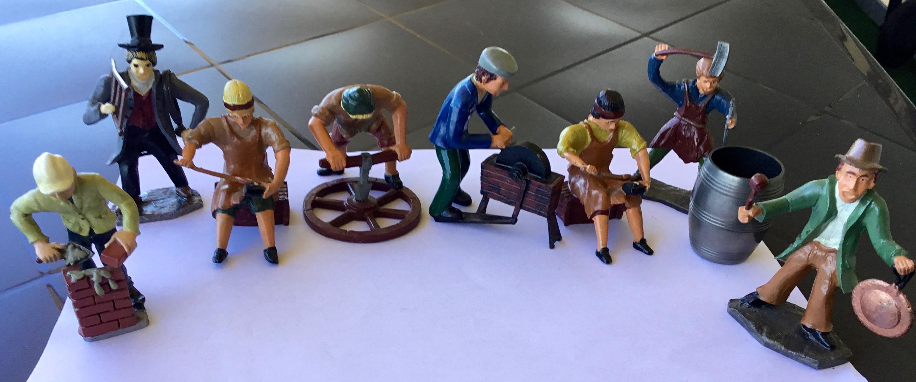 Old Dutch Professions in handpainted Pewter