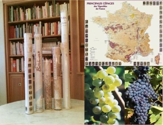 Wijnkaarten van Frankrijk