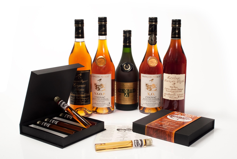 VADERDAG TIP ! Proefdoosje met 5 jaargangen Cognac.