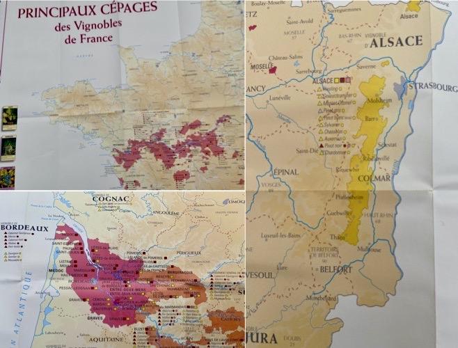 wijnkaarten Frankrijk