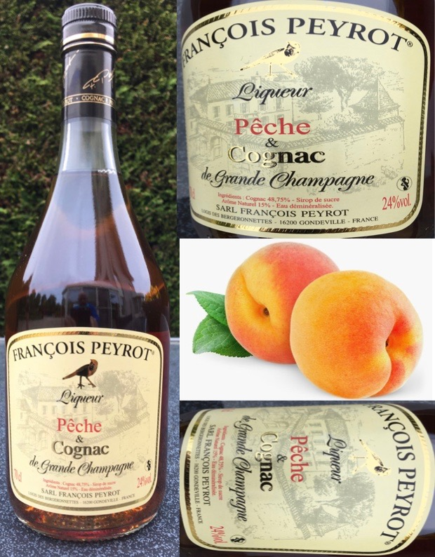 Perzik likeur en Cognac Franςois Peyrot