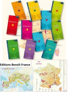 Folded maps from wine growing areas of France