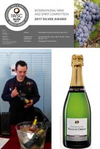 Top waardering voor Champagne Francis Orban