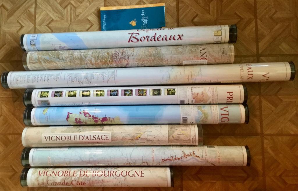 Posters geografische Wijnkaarten van Benoît France